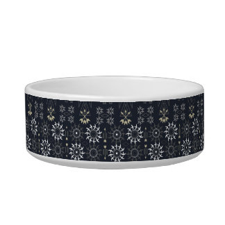 Arrow boho tribal black white pattern bowl