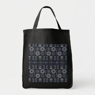 Arrow boho tribal black white pattern tote bag