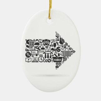 Arrow business ceramic ornament