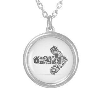Arrow business silver plated necklace