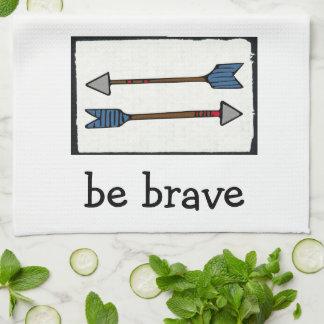 Arrow  Dishtowel - Be brave Tea Towel