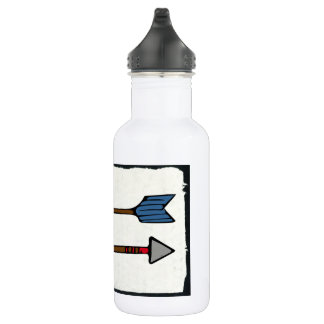 Arrow Drawing 532 Ml Water Bottle
