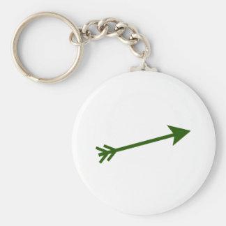 Arrow Green Dk 15deg The MUSEUM Zazzle Keychain