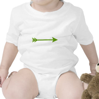 Arrow Green Straight The MUSEUM Zazzle Gifts Rompers