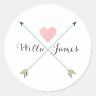 Arrow Heart Monogram Sticker