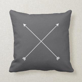 Arrow Modern Gray Minimal Tribal Cushion