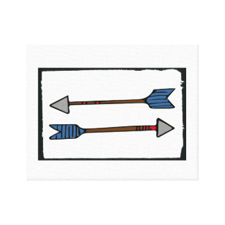Arrow Painting Art Work Canvas Print