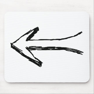 Arrow Pointing to the Left. Black. Mouse Pads