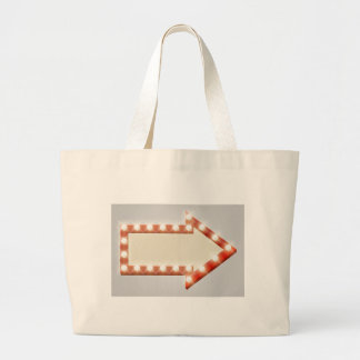 Arrow Sign Large Tote Bag