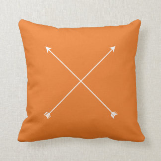 Arrow Tribal Orange Modern Minimal Cushion