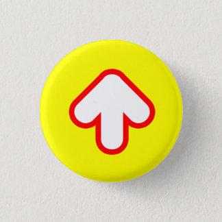 Arrow Up 3 Cm Round Badge