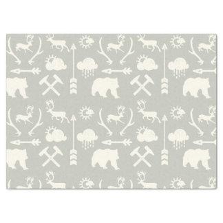 Arrows Deer Bears and Clouds Pattern Tissue Paper