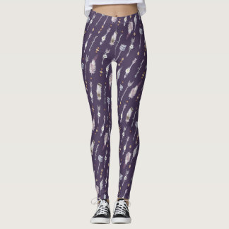 Arrows, Feathers and Flowers Leggings