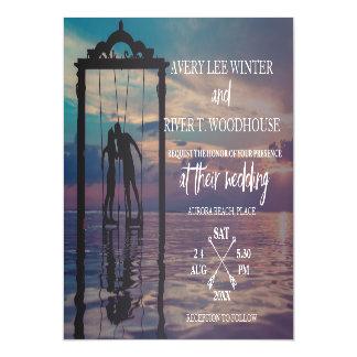 Arrows Photo Card Wedding Invite Magnetic Invitations