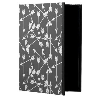 Arrows Scattered / Grey White / Andrea Lauren iPad Air Covers