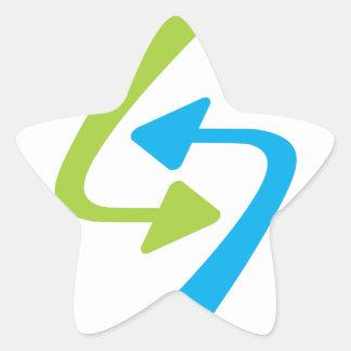 Arrows Star Stickers