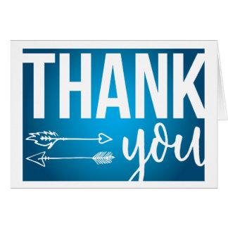 Arrows Thank You Card (Dark Blue)