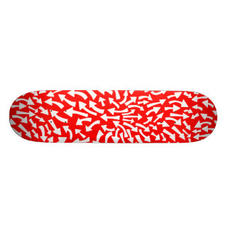 Arrows - White on Red (70s Flashback) Skate Boards