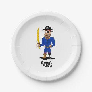 Arrr! Pirate Paper Plate