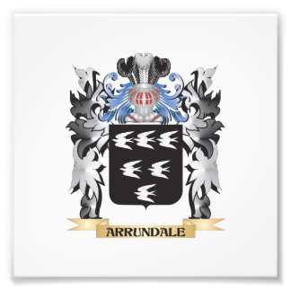 Arrundale Coat of Arms - Family Crest Photograph
