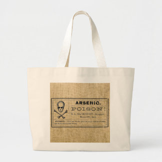 Arsenic Label on Burlap Canvas Bags