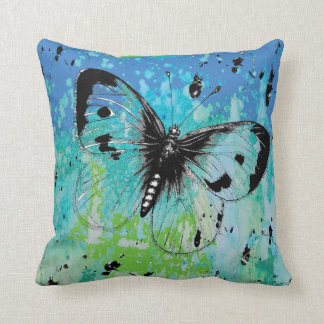 Arsty Butterfly Colorful Throw Pilllow Cushion