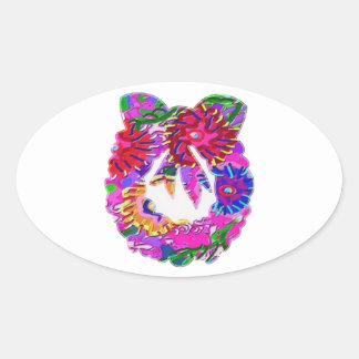 ART101 Flower Floral Wreath by Navin Sticker