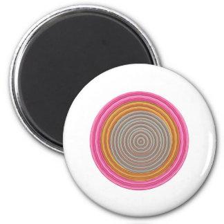 Art101 Grand Warm Color - SilkSatin Circles Magnet