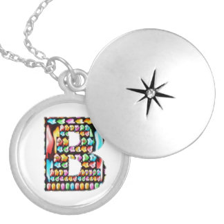 Art101 HappyBirthday Initial b bb  Express Love Round Locket Necklace