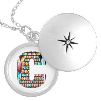 Art101 HappyBirthday Initial c cc Memorial Edition Round Locket Necklace