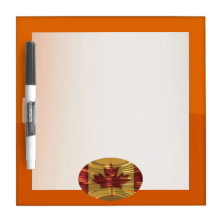 Art101 Jet Orange Tone Border n Silver Screen Dry Erase Board