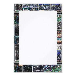 ART101 KOOLshade Wave LINEN : customize to yr size 9 Cm X 13 Cm Invitation Card