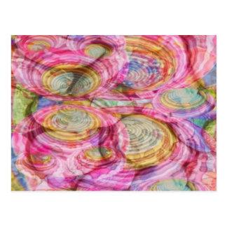Art101 PINK Graffiti  - Exotic Sea Shells Postcard