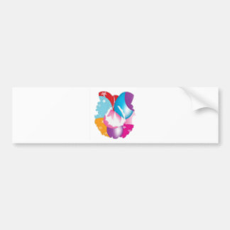 ART101 - Stars n Baloons Wreath Cutout Bumper Sticker