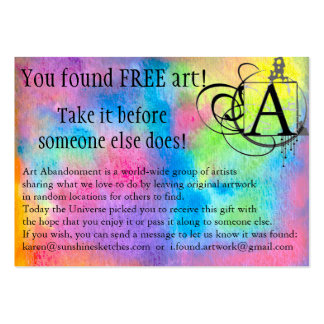 Art Abandonment Rainbow Watercolor Pack Of Chubby Business Cards