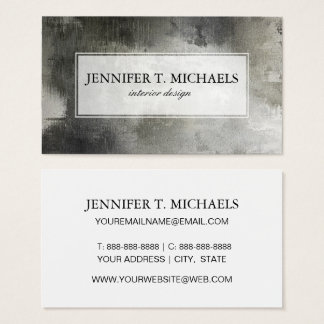 art abstract grunge black and white textured business card