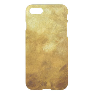 art abstract painted background in golden color iPhone 7 case