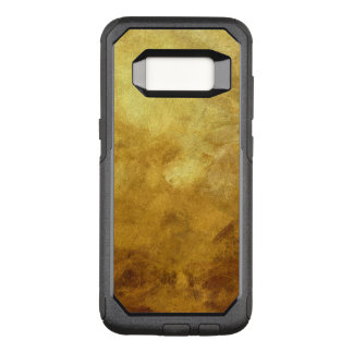 art abstract painted background in golden color OtterBox commuter samsung galaxy s8 case