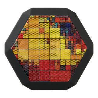 Art abstract vibrant rainbow geometric pattern black boombot rex bluetooth speaker