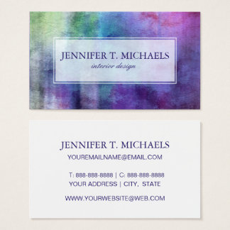art abstract watercolor background on paper business card