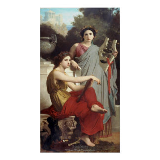 Art and Literature - William-Adolphe Bouguereau Poster