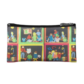 Art and Music Student Paper Collage Cosmetic Bag