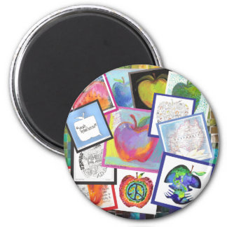 Art Apple Collage Magnet