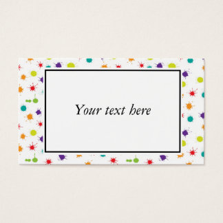 Art Attack Business Cards - ready to personalise