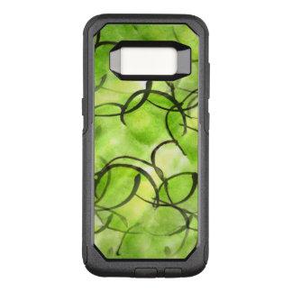 art avant-garde hand paint background green OtterBox commuter samsung galaxy s8 case