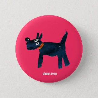 Art Badge Button: John Dyer Scotty Dog, Bella