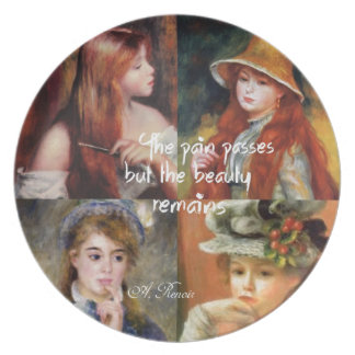 Art ,beauty and love in Renoir paintings Plate