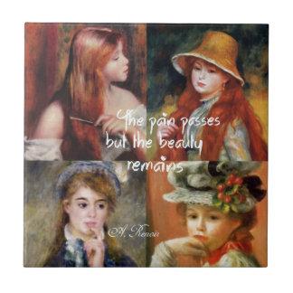 Art ,beauty and love in Renoir paintings Tile