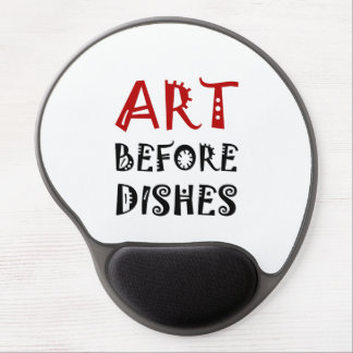 Art Before Dishes Gel Mouse Pad