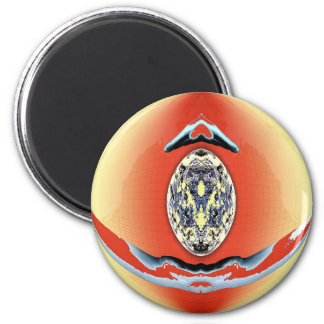 Art by Aliens - Medallion 6 Cm Round Magnet